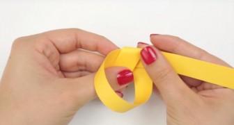 Kijk hoe je met een eenvoudige strook papier iets schattigs kunt creëren...