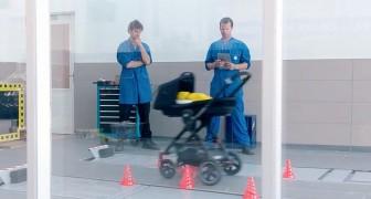Ein normaler Kinderwagen, aber wenn er gegen eine Mauer gefahren wird, versteht ihr, warum er einzigartig ist!