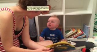 Mama is klaar met boekje lezen. De reactie van deze baby? HILARISCH!