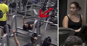 A paralympic athlete comes in the gym: when he starts training, they're all stunned !