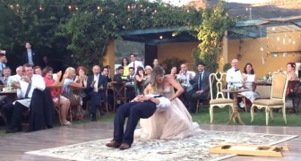 Their wedding dance is awesome, but at one point it also becomes ... MAGIC!