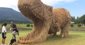 Wara festival: ecco come in Giappone si produce arte utilizzando la paglia di riso