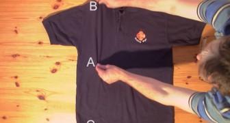 Leer hoe je een overhemd kunt opvouwen in minder dan 2 seconden met deze formidabele truc