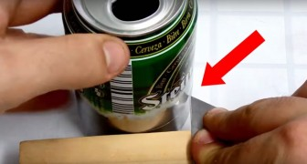 He starts by cutting a can and creates something that every camper will want !