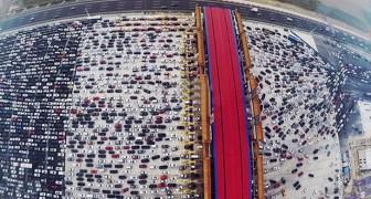 Als je een hekel hebt aan het verkeer in jouw stad, dan heb je nog niet gezien hoe het verkeer in China is