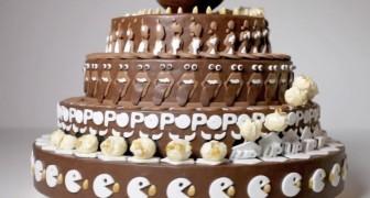 Het ziet er uit als een normale taart, maar als de taart wordt gedraaid, zorgt dit voor een fenomenaal effect!