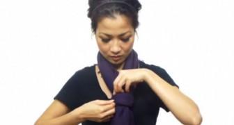 Una joven nos muestra 25 modos sorprendentes para lucir un pañuelo... en 4 minutos!