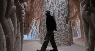 Il passe 25 ans sous terre et réalise une oeuvre que vous ne pouvez pas imaginer