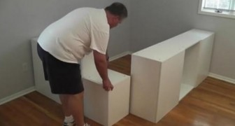 He buys 7 IKEA kitchen cabinets and builds something BRILLIANT for his daughter