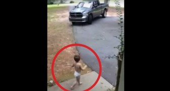 This daddy has to go to work: here's how his son shows him his love!