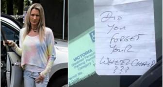 Ben je je rolstoel vergeten?: Een anoniem kaartje beledigt een vrouw met multiple sclerose