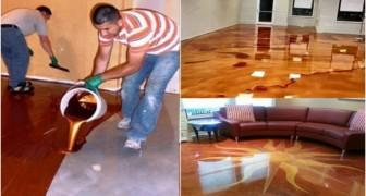 Versano un liquido dal colore metallico sul pavimento. Il risultato? Lo vorrete anche voi!