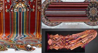 Deze kunstenaar vermengt de eeuwenoude kunst van het tapijtknopen met moderne technieken: het resultaat werkt hypnotiserend
