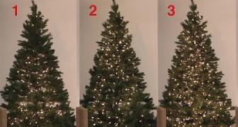 Ontdek 3 fascinerende manieren om lampjes op te hangen in de kerstboom... welke manier vind jij het beste?