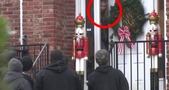 5 bedrohlich aussehende Männer klopfen an die Tür einer Frau, aber ihre Pläne werden euch überraschen
