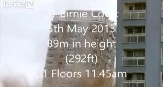 Glasgow edificio demolito in 5 secondi