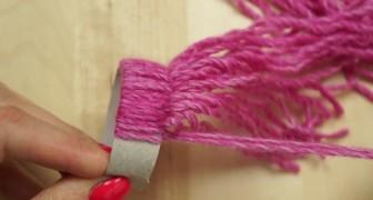 Um pouco de lã e um tubo de papelão: tudo o que você precisa para fazer esta decoração adorável
