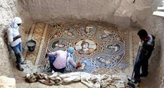 Découvertes en Turquie des splendides mosaïques qui ont plus de 2000 ans