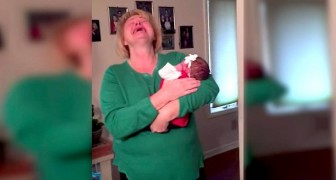 They put a baby in her arms: when she realizes who he is, she can't hold back the tears