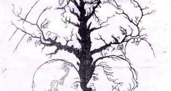 Hoeveel gezichten kun jij herkennen op deze afbeelding? Je kunt ze vast niet allemaal vinden!