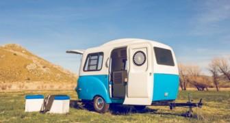Cette caravane est si ingénieuse qu'elle peut contenir 5 pièces dans un espace minuscule.