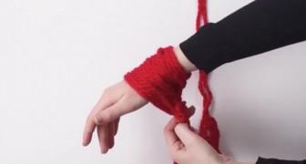 Enrola a lã no pulso e meia hora depois cria algo incrível