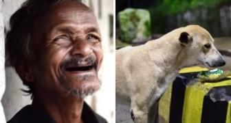Deze dakloze man weigert voedsel aan te nemen voor zichzelf... uiteindelijk neemt hij het aan voor zijn honden