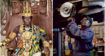 Dieser afrikanische König arbeitet als Mechaniker und regiert sein Volk via Skype