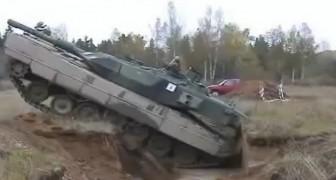 Der Panzer fällt in einen Graben... Die Lösung, ihn da wieder herauszubekommen ist stark
