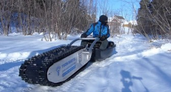 Yvon Martel's MTT-136 electric sled is able to do things that others cannot. Wait until you see it in action!!!
