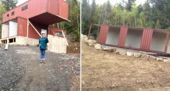 Een meisje koopt scheepscontainers op en transformeert deze in duizelingwekkende huizen