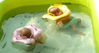 The faces of these adorable infants in a swimming pool will make your day! ;)