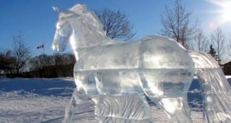 Partendo da un blocco di ghiaccio, questi scultori creano capolavori incredibili