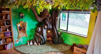 Ze wilde een boom op haar kamer: haar vader creëerde iets wat al haar verwachtingen overtrof