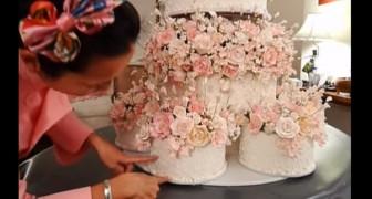 Deze bruid werkt al maanden aan haar bruidstaart. Het resultaat is ADEMBENEMEND MOOI!