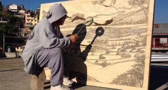 Dipingere utilizzando soltanto il sole e una lente di ingrandimento? Si può!
