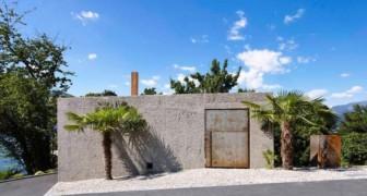 Dietro le pareti di cemento e un cancello arrugginito si cela una casa spettacolare