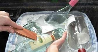 Haal de etiketten van glazen flessen en ontdek wat je allemaal aan originele dingen kan doen om deze flessen te hergebruiken