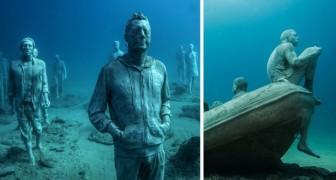 Statue umane sul fondo del mare: scoprite il primo museo subacqueo d'Europa