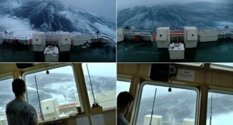 Una nave si ritrova nel bel mezzo di una tempesta: le immagini fanno trattenere il respiro