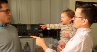 Elle rencontre pour la première fois le frère jumeau de son père: sa réaction est trop mimi!