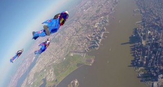 Professional Wingsuit Flying ---over New York City! It will definitely give you a THRILL!