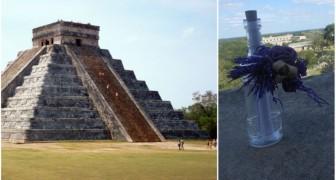 Trovano una bottiglia in cima ad un tempio Maya: il suo contenuto cambierà la loro vita