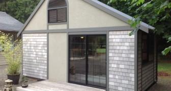 Dieser Designer hat eine modulare Mini-Wohnung in ein sehr elegantes Einfamilienhaus verwandelt