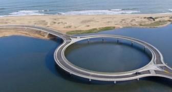 In Uruguay is een brug in cirkelvorm gebouwd: de reden is fascinerend