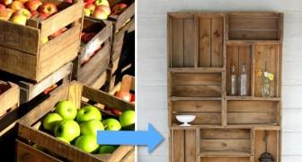 Creare una libreria con le cassette della frutta? È più facile di quanto pensi!