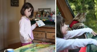Una bimba di 6 anni con autismo dipinge quadri magnifici: anche Angelina Jolie ne ha comprato uno