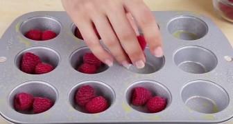 Mette i lamponi nella teglia con soli 2 ingredienti: quello che ottiene è squisito!