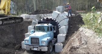 Met deze vrachtwagen is het mogelijk om binnen enkele minuten een tunnel te bouwen
