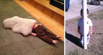 25 adorabili bambini che padroneggiano alla perfezione il gioco del nascondino